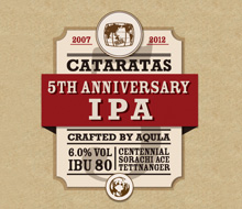Cataratas 5th Anniversary IPA label